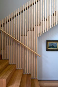 Wooden rails Stair Railing Ideas Rails Wooden Stairs Ideas Ideas Railing Rails S… Wooden rails Stair Railing Ideas Rails Wooden Stairs Ideas Ideas Railing Rails Stair wooden Stair Handrail, Staircase Railings, Stairways, Timber Stair, Open Staircase, Staircase Remodel, Wood Railing, Banisters, Basement Stairs