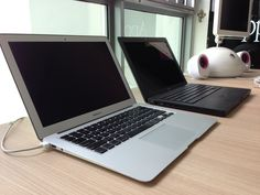 MacBook Air and original black MacBook