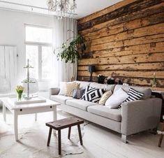 Interior Design Living Room, Living Room Decor, Wooden House Decoration, Country Interior, Cottage Interiors, Scandinavian Home, Log Homes, Home And Living, House Design