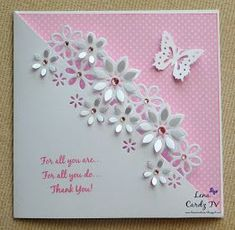 Lena's Creations: Thank You Card at Cardz TV Challenge # 3