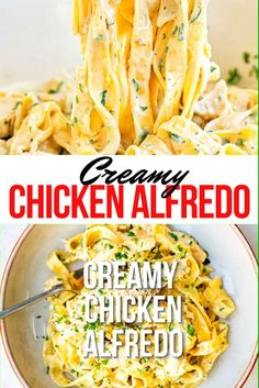 Are looking for any easy Chicken Alfredo recipe? This creamy chicken pasta is simple enough for a weekday meal but fancy enough for date night. Once you make this creamy pasta sauce you will want to serve it with everything! Creamy Chicken Pasta Bake, Chicken Pasta Recipes, Chicken Alfredo, Creamy Pasta, Night Dinner Recipes, Fancy Dinner Recipes, Supper Recipes, Pasta Recipes Date Night, Fancy Pasta Recipe