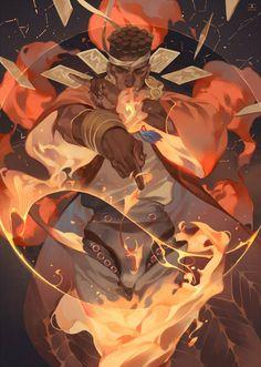 Avdol - Jojo's Bizarre Adventure part 3: Stardust Crusaders