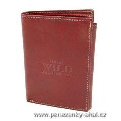 Pánská kožená dokladovka neobvyklé červené barvy. Do této peněženky uložíte i starou občanku.