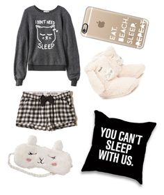 """Good night "" by luciarakoczyova on Polyvore featuring Wildfox, Hollister Co., P.J. Salvage and Casetify"