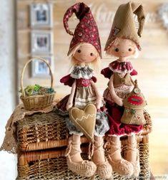 Купить Домовой гном.Текстильная чердачная кукла. Оберег. Doll - Пасха, домовой, свадьба, красный