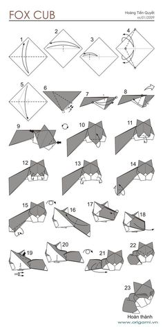 - Beauteous Origami Fox Instructions : Best Origami Fox Ideas On Origami Renard Origami Fox Puppet Instructions Origami Instructions Fox Face Origami Design, Origami Fox, Instruções Origami, Origami Star Box, Origami Ball, Origami And Kirigami, Origami Dragon, Useful Origami, Origami Animals