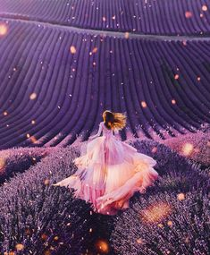 Miss Makeeva captured this beautiful shot of a model wearing a flowing pink dress set against a purple lavender field in Valensole in south eastern France - Pink Dresses - Ideas of Pink Dresses Fantasy Photography, Girl Photography, Travel Photography, Fashion Photography, Photography Jobs, Photography Camera, Artistic Photography, Vintage Photography, Wedding Photography