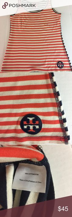 Tory Burch striped tank top Sleeveless tank  top striped/ multicolored. Size medium Tory Burch Tops Tank Tops