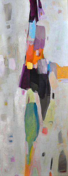 Long vert abstraite Original toile peinture blanc par SofiesGallery