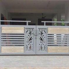 Modern Steel Gate Design, Modern Main Gate Designs, Iron Main Gate Design, Home Gate Design, Gate Wall Design, Grill Gate Design, House Main Gates Design, Balcony Grill Design, Front Gate Design