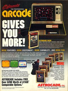 great vintage video games advertising, do you remember trying this game?
