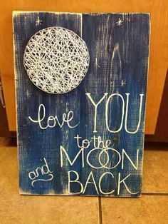 Moon string art. I absolutely adore this!!