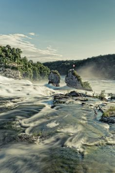 Schaffhausen Rheinfall, Switzerland, by nibart,  largest waterfall in Europe