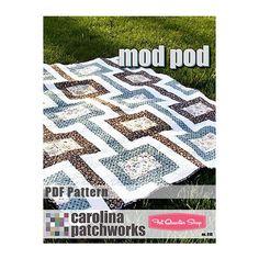 Mod Pod Downloadable PDF Quilt Pattern Carolina Patchworks