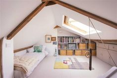 White country attic room