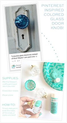 DIY - Awesome Painted Glass Door Knobs hack, for super cheap!