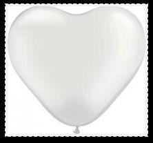 Pearl white heart shaped balloon wedding balloons by PartySurprise, $3.95