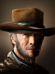 Clint Eastwood in his most iconic role.but wanted to show him as he would look like in his old days The old man with no name