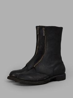 GUIDI MEN'S BLACK ZIPPED BOOTS5308fzm blkt 99