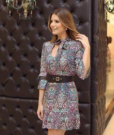 """""""Vestido @unicas_store  Muito amor nos laços no pescoço!! • #previewwinter16 #lançamentounicas #blogtrendalert"""""""