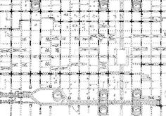 Louis Kahn Traffic Study – Experiments In Motion Louis Kahn, Philip Johnson, Urbane Analyse, Art Of Memory, Bubble Diagram, Landscape Diagram, Architecture Drawings, Classical Architecture, Landscape Architecture