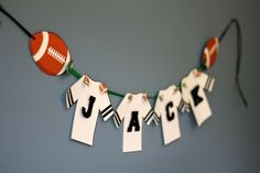 Football Birthday Party Banner, Sports Birthday Party Banner, Boys Birthday Party. $25.00, via Etsy.