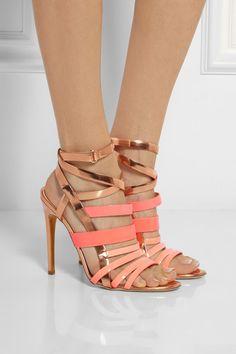 Antonio Berardi+ Rupert Sanderson Tallyho metallic leather sandals