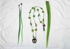 Cool Horse Color Set in Green  Necklace Mane Color by MyBuddyBling, $15.00