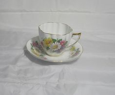 Vintage   Fine bone china  Cup and Saucer by by TheMewsCottage, £12.00