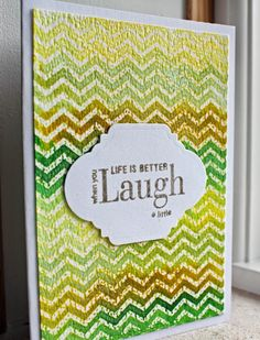 Card, Distress ink, Embossing, Cover a Card, Chevron.