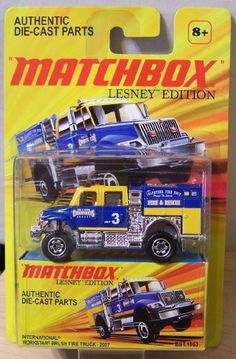 2011 Matchbox Lesney Edition International Workstar Brush Fire Truck - 2007 Blue/Yellow by Mattel. $18.95