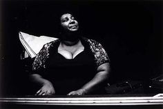 """""""Beverly Plays the Blues"""" - 1982 photo by Michelle Marie Vignes [Born: Reims, France 1926] -  gelatin silver print"""