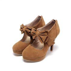 Cute Black Bow knot High Heels Fashion Shoes