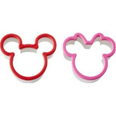Focus Products Group Mickey & Minnie Mouse Sandwich Cutter Set by Birthday Baking Collection Mickey E Minnie Mouse, Minnie Mouse Cookies, Mickey Mouse Parties, Mickey Party, Mickey Mouse Clubhouse, Mickey Mouse Cookie Cutter, Baby 1st Birthday, Mickey Mouse Birthday, 2nd Birthday Parties