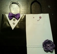DIY Wedding party gift bags for the bridesmaids and groomsmen
