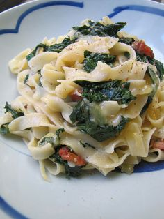 Pasta Kale-bonara.  My husband made this for me last night and it was absolutely delicious!!!