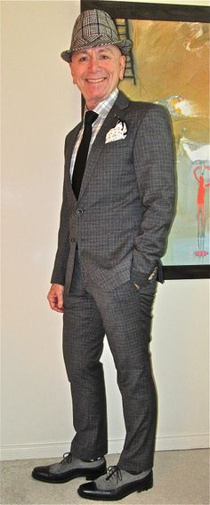 Suit Clinic suit, Circle Of Gentlemen shirt, black tie, Ron White suede & leather oxfords... #SuitClinic #CircleOfGentlemen #RonWhite #mensfashion #fashion #dandy #dapper #sartorial #sprezzatura #menshoes #mensweardaily #menstyle