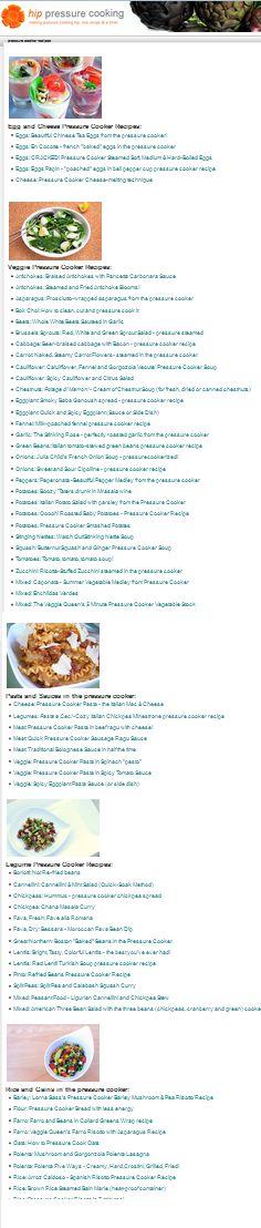 Pressure Cooker Recipe Index - hundreds of recipes!