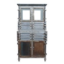Incredible Chrome and Raw Steel Medical Cabinet c1920 | Restored Lighting, Antiques & Vintage Finds from Rejuvenation