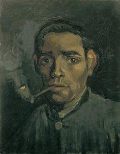 Vincent van Gogh - Head of a Man, 1885