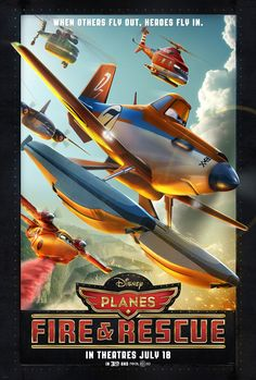 """New Trailer For """"Planes: Fire & Rescue"""" Julie Bowen, New Movie Posters, New Poster, Disney Posters, Hd Movies, Disney Movies, Watch Movies, Movies Free, Pixar Movies"""