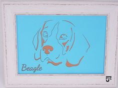 New to Jaylaserdesign on Etsy: Personalised Beagle Picture. Part Of JLD's J PIC Range. Laser Cut Picture A4 Size. (10.50 GBP)
