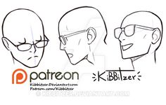 Glasses reference sheet 2 by Kibbitzer.deviantart.com on @DeviantArt
