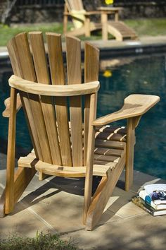 These free Adirondack chair plans will help you build a great looking chair in just a few hours, Build one yourself! Here are 18 adirondack chair diy Teak Adirondack Chairs, Adirondack Furniture, Outdoor Furniture Plans, Teak Furniture, Garden Furniture, Patio Chairs, Comfortable Outdoor Chairs, Zebra Chair, Morris Chair