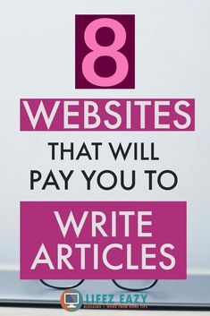 Check out 8 websites that you can use to make money from writing articles. You can get paid from $9 - $150 per article. Click the pin to know more. #makemoneyonline #writing #makemoneywriting