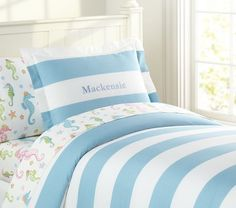 Shop girls duvet covers that will show off your daughter's personality. Find girls duvet cover at Pottery Barn Kids in fun prints and colors that she will love. Orange Duvet Covers, Girls Duvet Covers, Ocean Room, Shared Rooms, Little Girl Rooms, Baby Furniture, Kid Beds, New Room, Bedding Sets