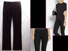 """THE ROW BUTT-FLATTERING! BLACK STRETCH """"LONG-SLIM"""" LEGGING TROUSERS PANTS $790 M #THEROW #CasualDressPants"""