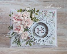 Hobbies And Crafts, Diy And Crafts, Paper Crafts, First Communion Cards, Christian Cards, Mixed Media Cards, Shabby Chic Cards, Heartfelt Creations, Sympathy Cards