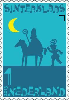 Sinterklaaspostzegels 2013: Sinterklaas en Zwarte Piet
