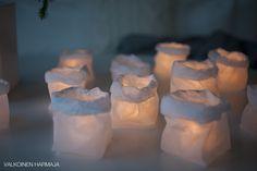 DIY: silkkipaperipussi LED-kynttilälle - Valkoinen Harmaja | Divaaniblogit
